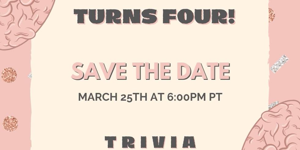 Four Year Anniversary Trivia Night