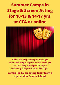 Screen & Stage Acting in person poster f