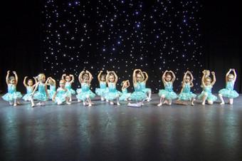 Baby Ballerinas at rehearsals