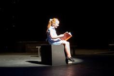 Francesca doing Matilda in rehearsal