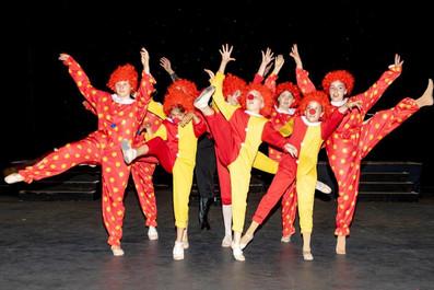 Crazy Clowns in rehearsal
