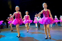 Young tap dancers at rehearsals