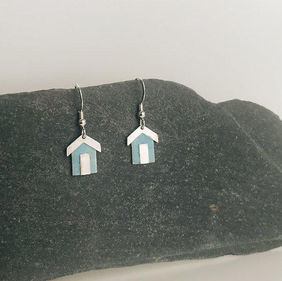 Blue Beach Hut Earrings