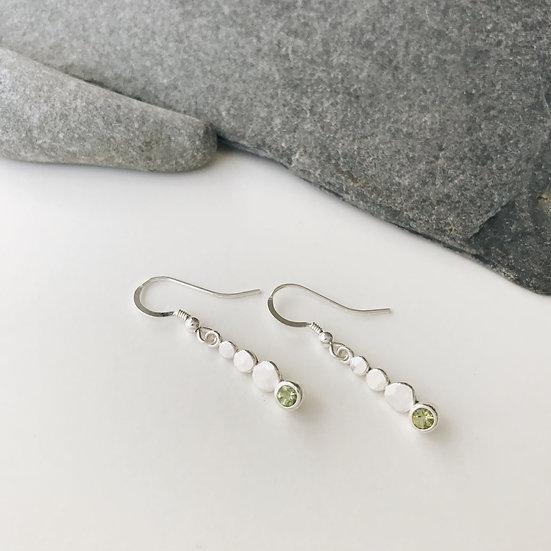 Peridot Pebble Earrings