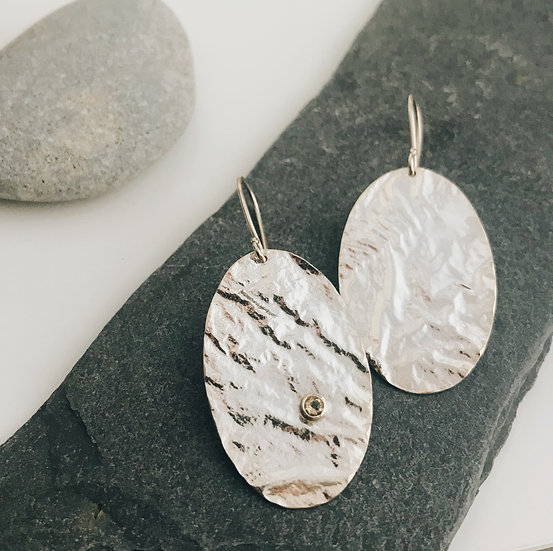 Reticulated Oval Earrings
