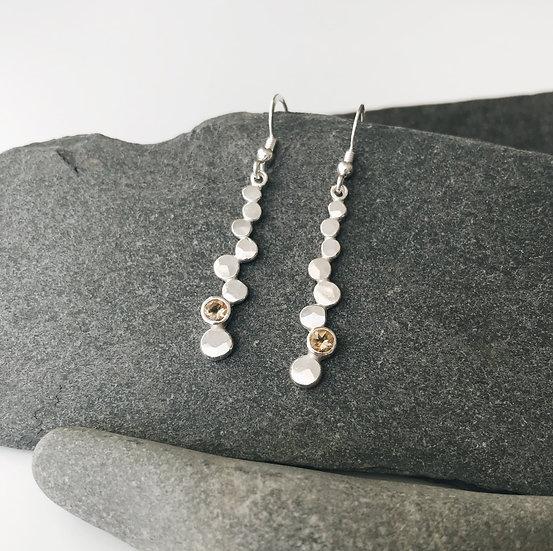 Citrine Pebble Earrings