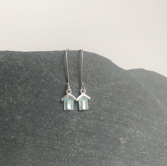 Littlest Blue Beach Hut Earrings