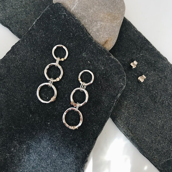 Birch Earrings with gold