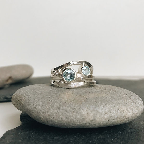 Blue Topaz Elm Ring