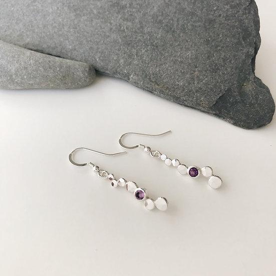 Amethyst Pebble Earrings
