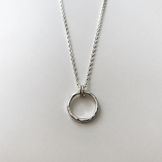 Hammered Circle Pendant