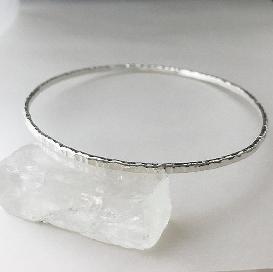 Silver line bangle