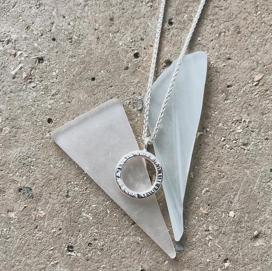 Silver lining pendant