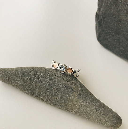 Blue Topaz Pebble Ring