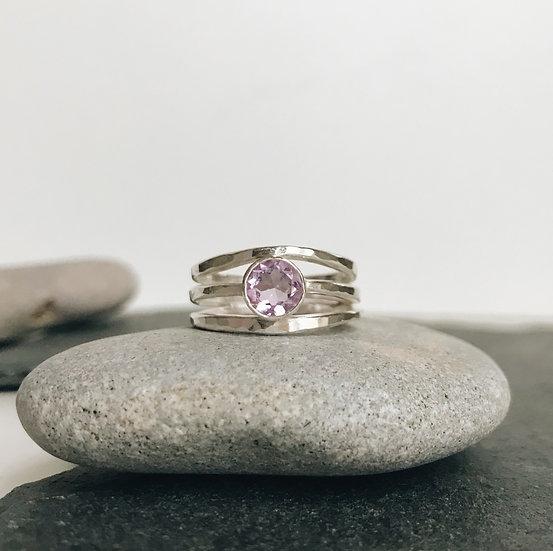 Amethyst Simple Elm Ring