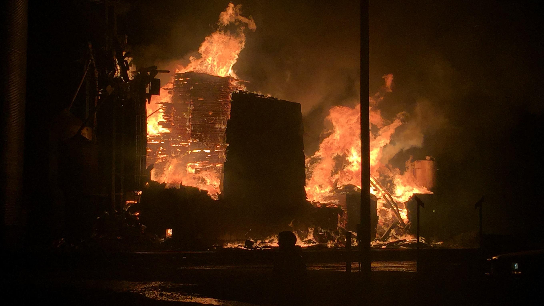 Medina Grain Elevator Fire