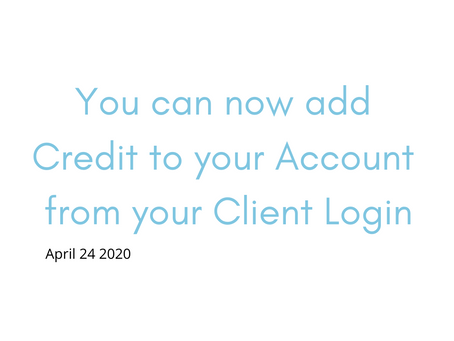 Add a Credit Card from the Client My Account Portal