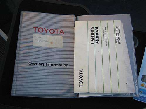 Toyota MR2 MK1 Service Book and wallet