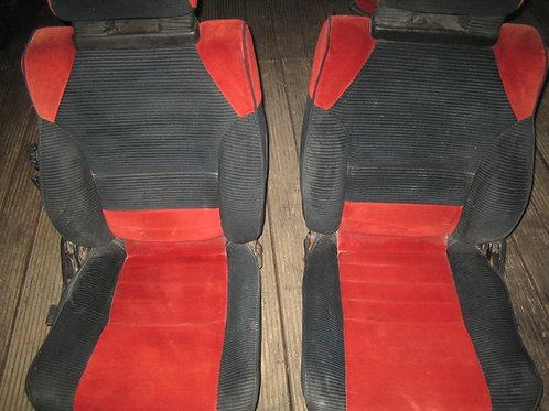 Toyota MR2 MK1 rare red and black seats
