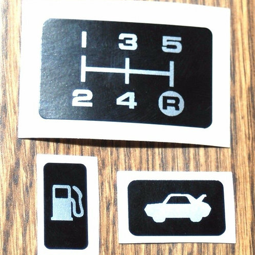 Toyota mr2 mk1 gear selector fuel,boot decal