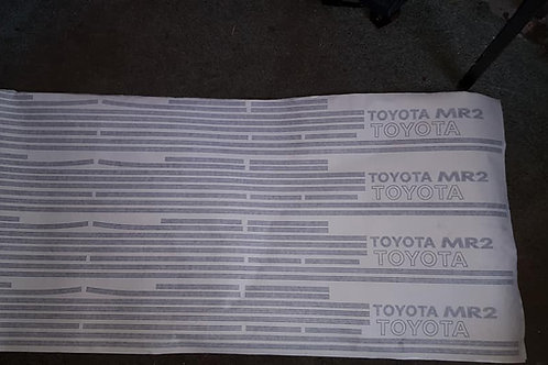 Toyota mr2 mk1 sticker set decals