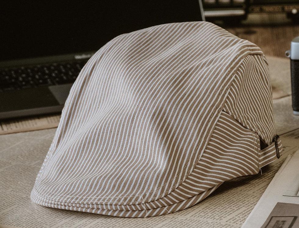 IVY CAP - STRIPES LATTE