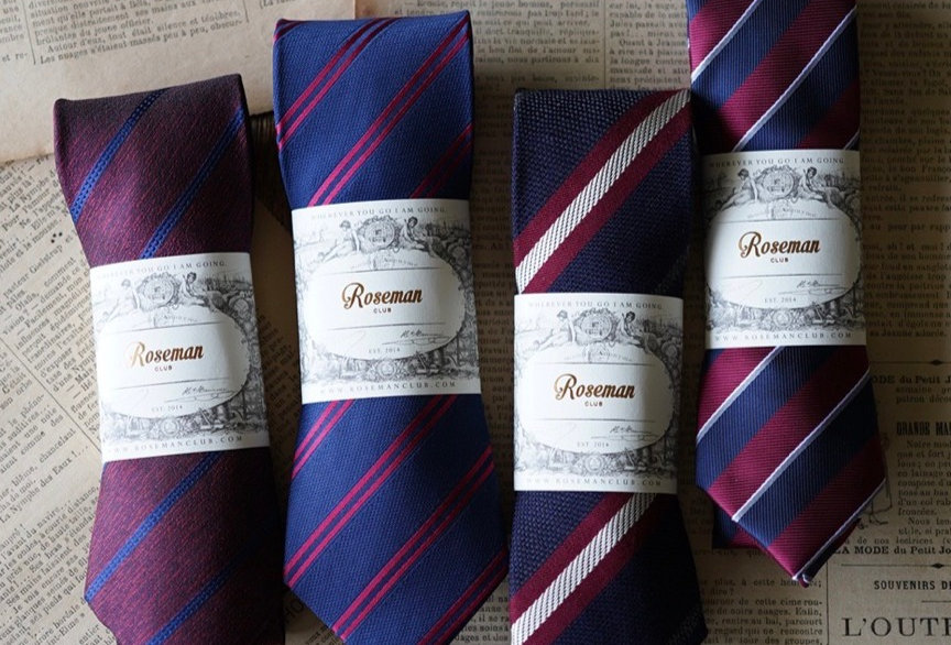 ROSEMAN NECKTIE - FORMAL STRIPES