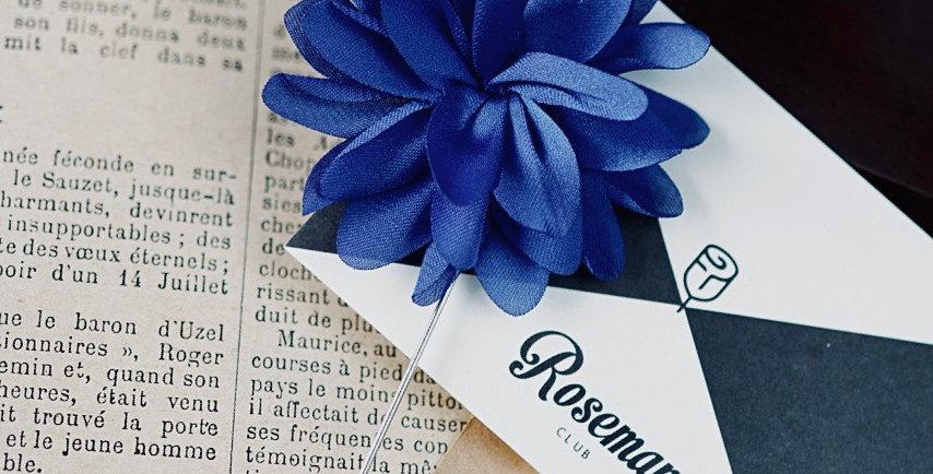 LAPEL PIN SUIT - BLUE FLOWER