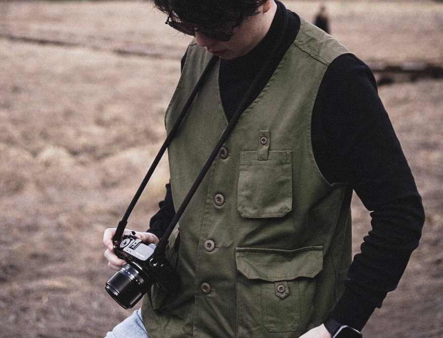 YOJI SAFARI VEST - GREEN