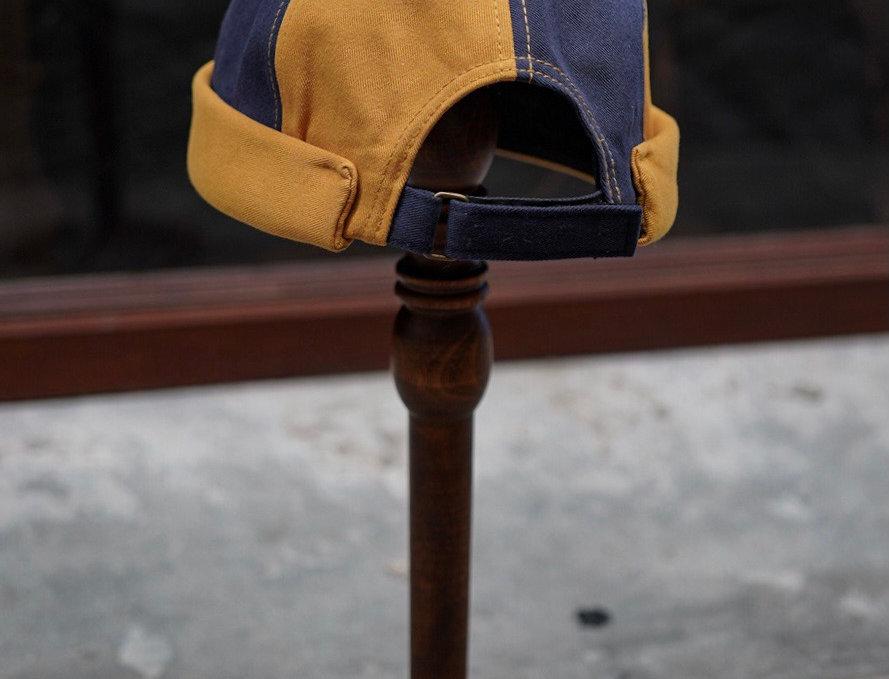 TWIN SAILOR CAP - NAVY YELLOW
