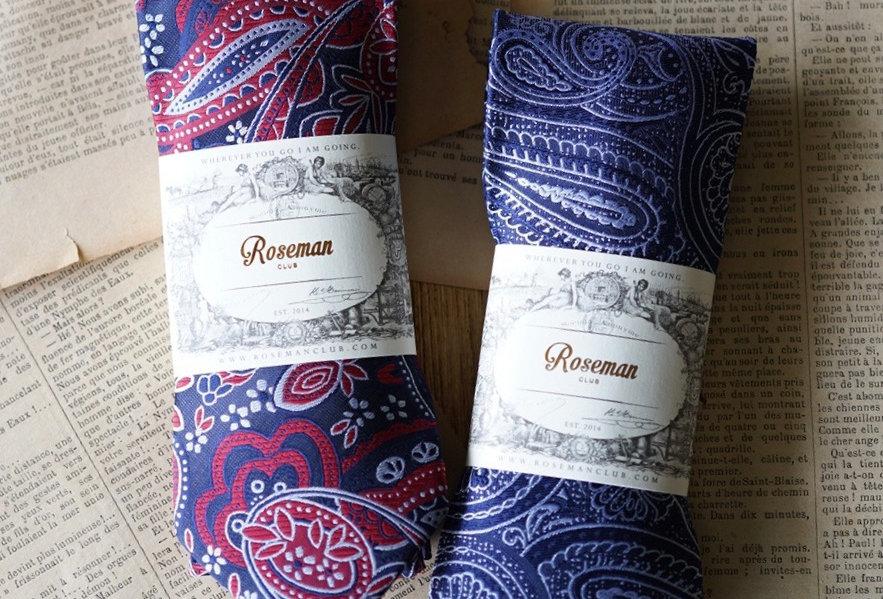 ROSEMAN NECKTIE - RETRO RED&BLUE