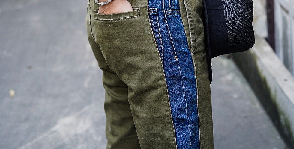 CHELSEA PANTS DENIM/GREEN