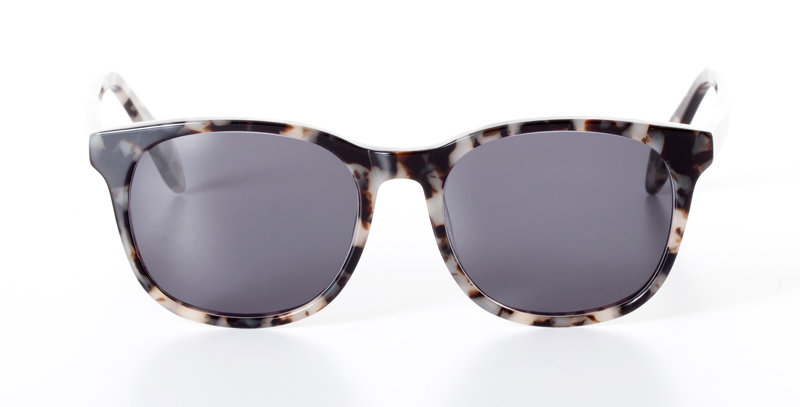 CARL WHITE MARBLE - SUNGLASSES BLACK
