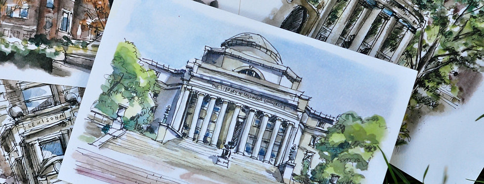 Pearadastyle - Columbia Univesity (5 Postcards)