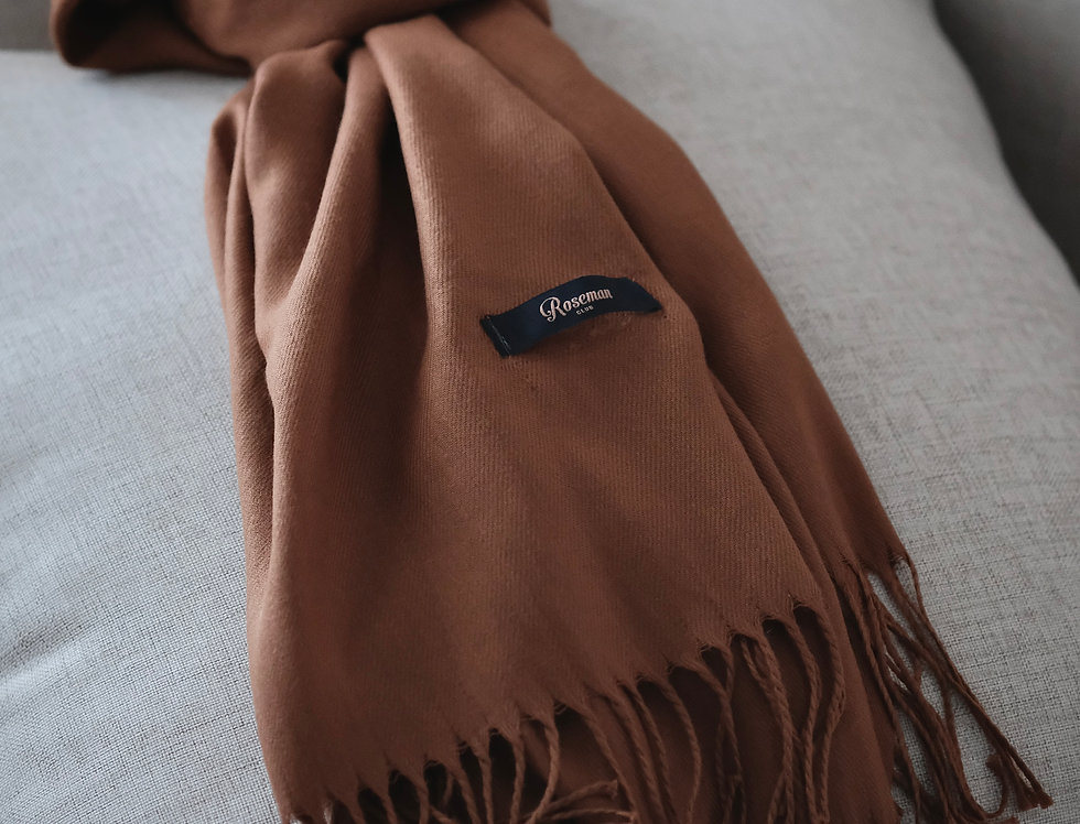 ROSEMAN SCARF - BROWN #17