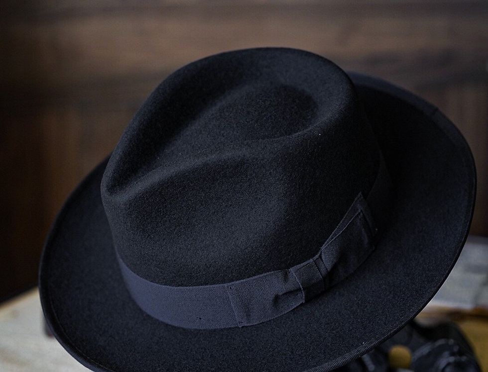 FRANCIS FEDORA HAT - BLACK