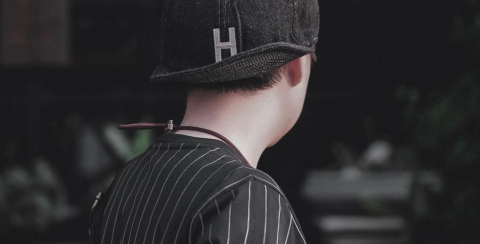 H DENIM CAP - BLACK