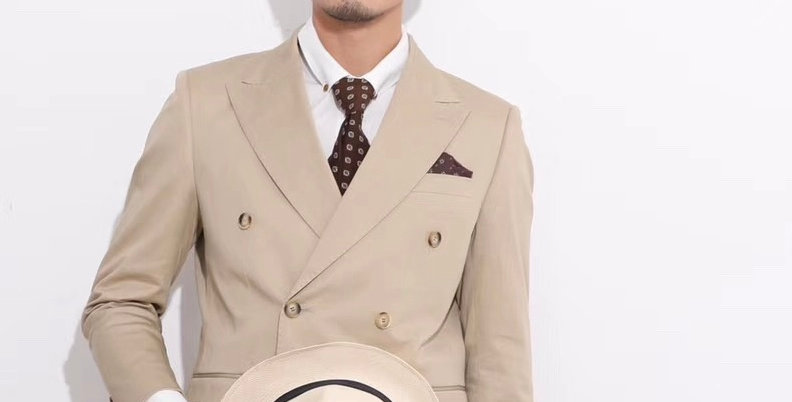 DOUBLE BREASTED SUIT BEIGE (Set of 2)