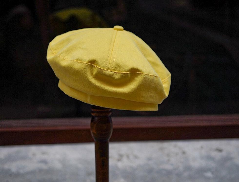 BERET CAP - LEMON