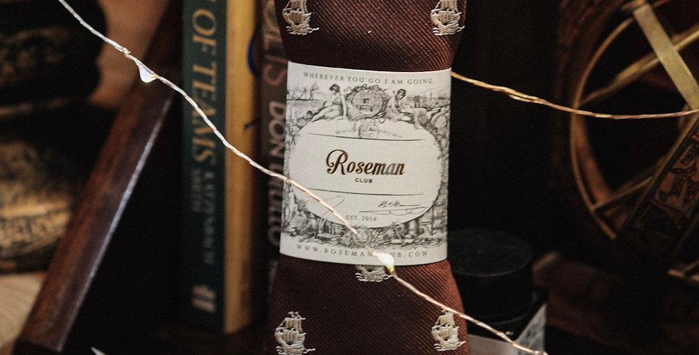 ROSEMAN NECKTIE - BROWN BATTLESHIP