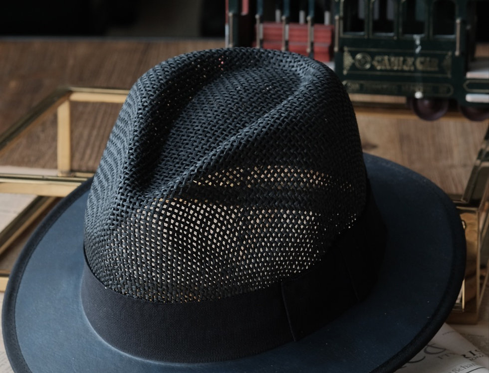TOMMY FEDORA HAT - BLACK