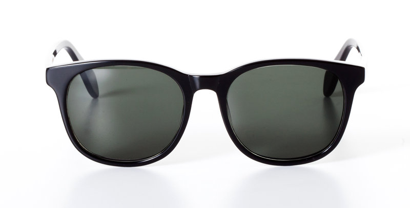 CARL MIDNIGHT BLACK - SUNGLASSES GREEN