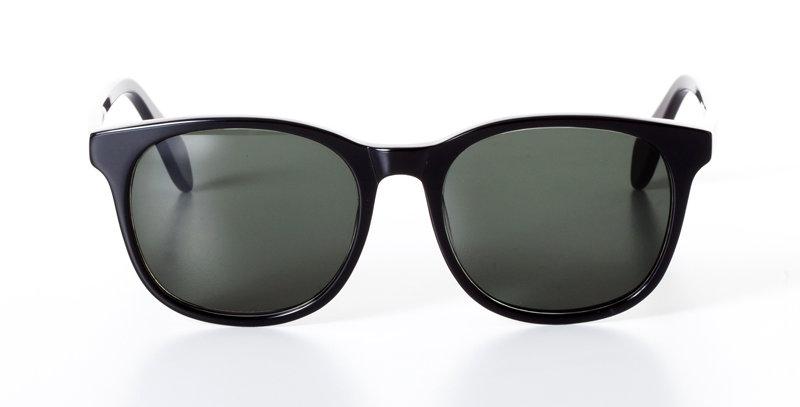 CARL MIDNIGHT BLACK - SUNGLASSES GREEN