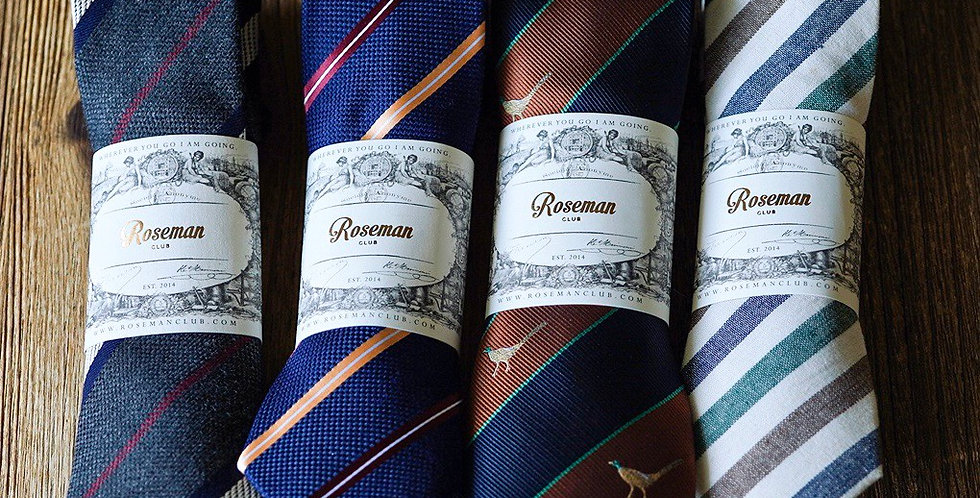 ROSEMAN NECKTIE - STRIPES MIX