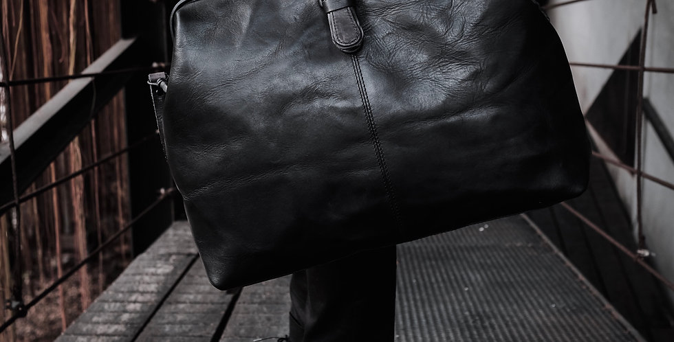 LARGE DOCTORE BAG - CHARCOAL BLACK