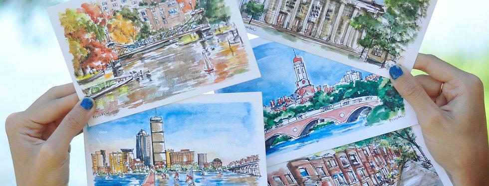 Pearadastyle - Boston (5 Postcards)