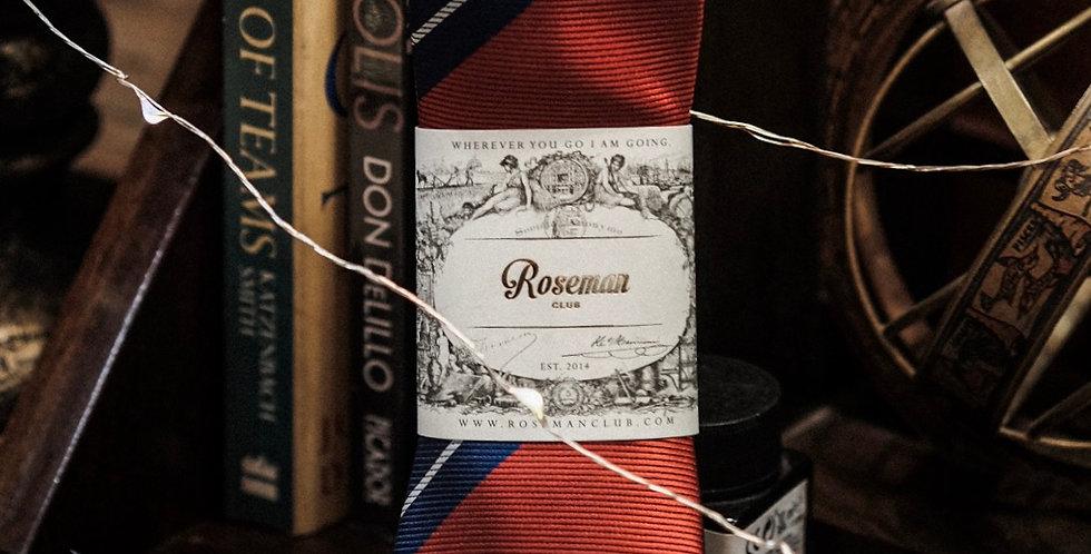 ROSEMAN NECKTIE - RED BLUE STRIPES