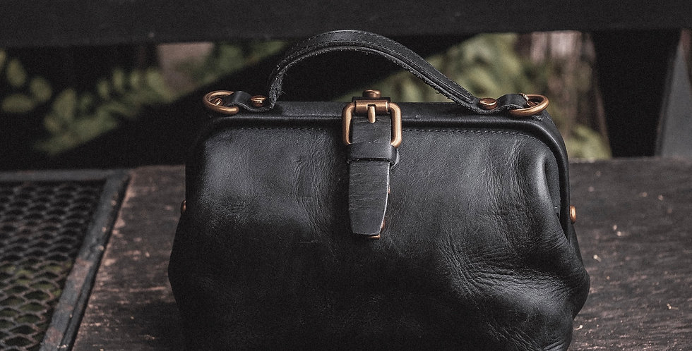 MINI DOCTORE BAG - CHARCOAL BLACK