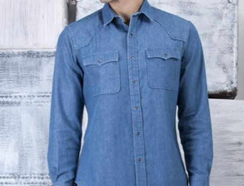 WG - CLINT SHIRT IN STONE BLUE
