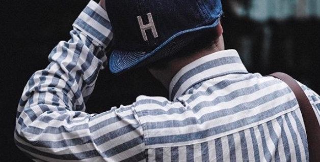 H DENIM CAP - BLUE